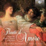 フルート奏者ジネヴラ・ペトルッチ(Ginevra Petrucci)の「Flauto d' Amore」がナクソス・ミュージック・ライブラリーに追加