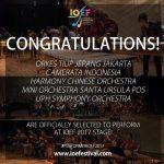 ジャカルタジャパン吹奏楽団(OTJJ)、インドネシア・オーケストラ・アンサンブル・フェスティバルへの初参加が決定!