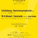 今回は管楽器メインのプログラム!シンフォニエッタ静岡第4回東京公演~室内オーケストラとは~(2018/1/21:サントリーホール ブルーローズ)