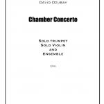 デイヴィッド・ズベイ(David Dzubay)の新作「Chamber Concerto for Trumpet, Violin & Ensemble」が2017年3月2日に初演される
