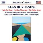 セントラル・ワシントン大学ウィンド・アンサンブルの「アラン・ホヴァネス作品集」がナクソス・ミュージック・ライブラリーに追加